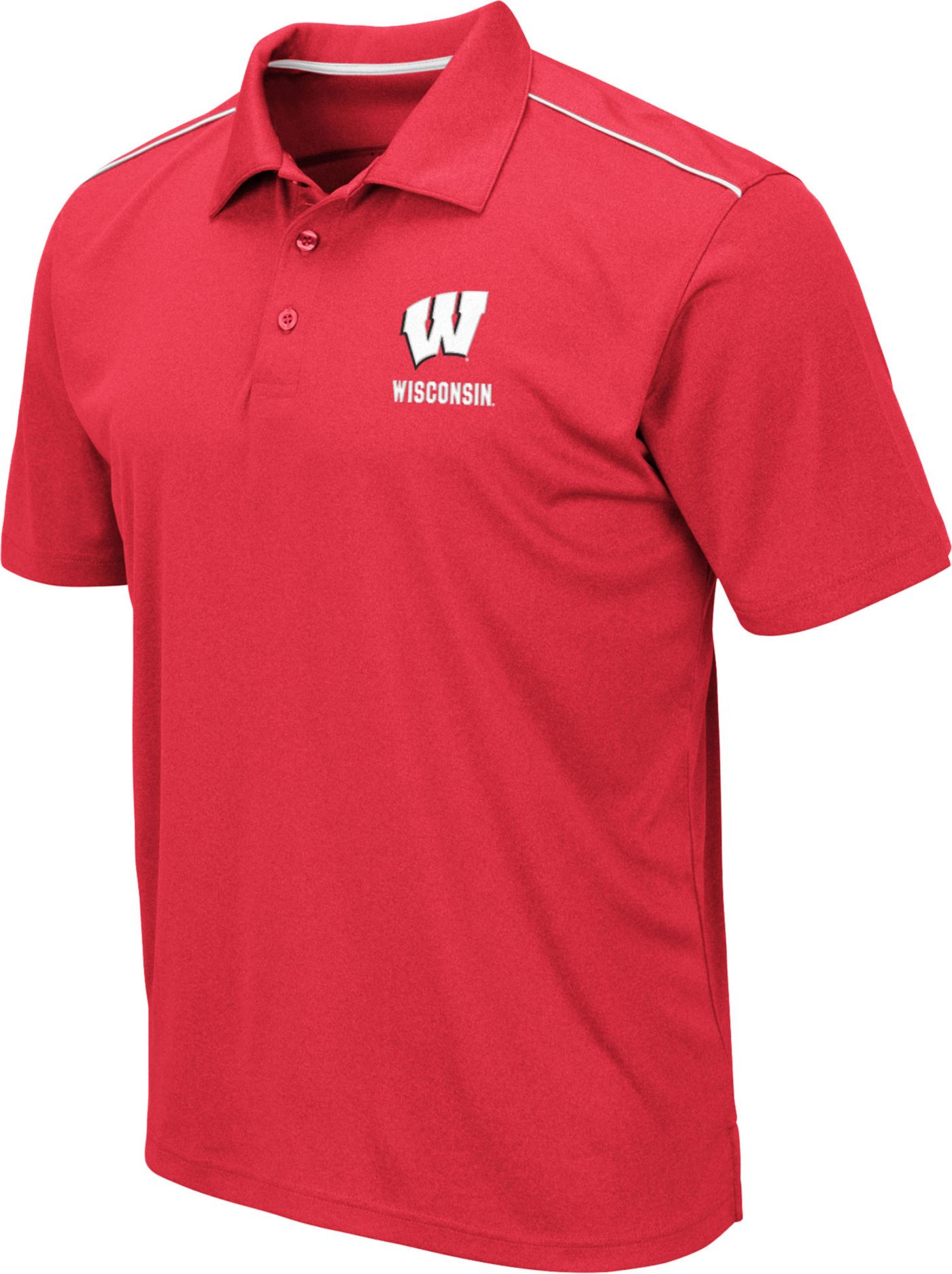 Colosseum Men's Wisconsin Badgers Red Eagle Polo