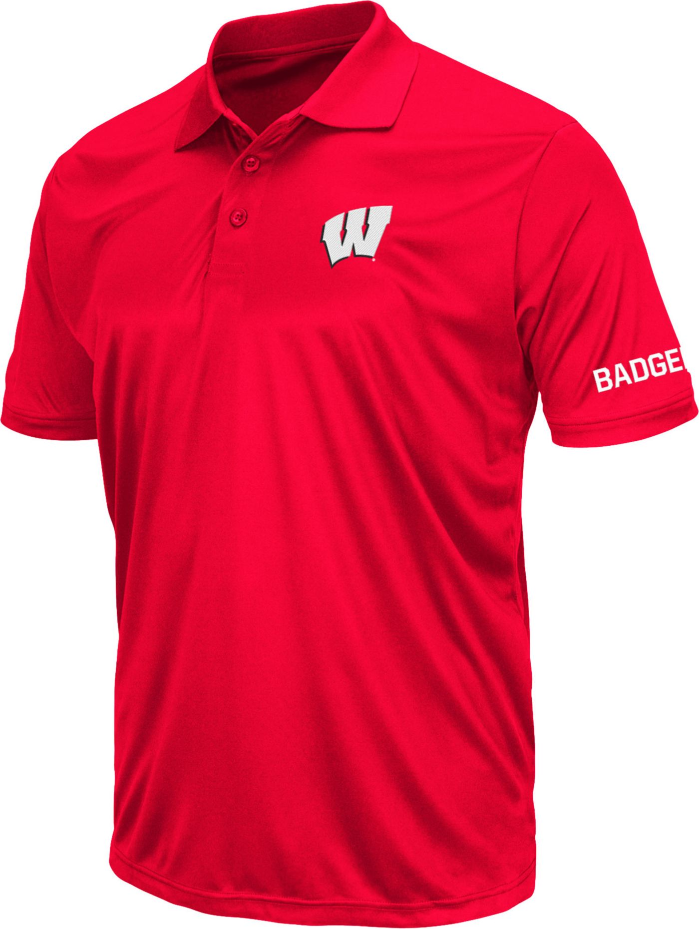 Colosseum Men's Wisconsin Badgers Red Stance Polo
