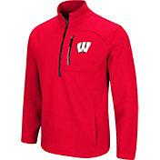 Colosseum Men's Wisconsin Badgers Red Townie Half-Zip Jacket