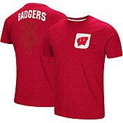 Colosseum Men's Wisconsin Badgers Red Voodoo Pocket T-Shirt