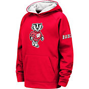 Colosseum Youth Wisconsin Badgers Red Fleece Pullover Hoodie