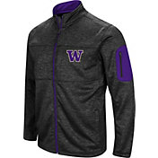 Colosseum Men's Washington Huskies Glacier Full-Zip Black Jacket