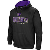 Colosseum Men's Washington Huskies Fleece Pullover Black Hoodie