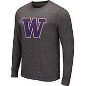 Colosseum Men's Wisconsin Badgers Grey Long Sleeve T-Shirt