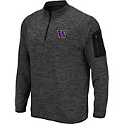 Colosseum Men's Washington Huskies Grey Quarter-Zip Shirt