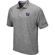 Colosseum Men's Washington Huskies Grey Chip Shot Polo