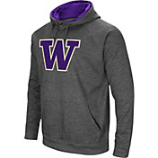 Colosseum Men's Washington Huskies Grey Fleece Pullover Hoodie