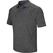 Colosseum Men's Washington Huskies Grey Cut Shot Polo