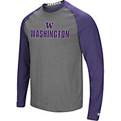 Colosseum Men's Washington Huskies Purple/Grey Social Skills Long Sleeve Raglan T-Shirt