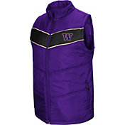 Colosseum Men's Washington Huskies Purple Red Beauleiu Full-Zip Vest