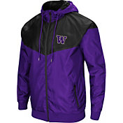 Colosseum Men's Washington Huskies Purple/Black Galivanting Full Zip Jacket
