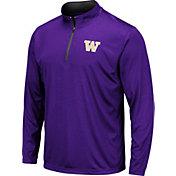 Colosseum Men's Washington Huskies Purple Embossed Quarter-Zip Performance Shirt