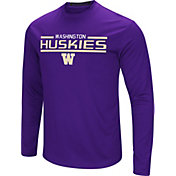 Colosseum Men's Washington Huskies Purple Long Sleeve Performance T-Shirt