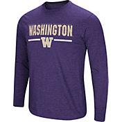 Colosseum Men's Washington Huskies Purple Touchdown Long Sleeve T-Shirt