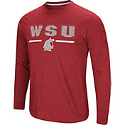 Colosseum Men's Washington State Cougars Touchdown Long Sleeve Black T-Shirt
