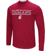 Colosseum Men's Washington State Cougars Crimson Long Sleeve Performance T-Shirt