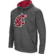 Colosseum Men's Washington State Cougars Grey Fleece Pullover Hoodie