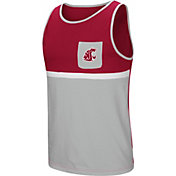 Colosseum Men's Washington State Cougars Crimson/Grey Lollygaggers Tank Top