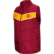 Colosseum Men's Iowa State Cyclones Cardinal Red Beauleiu Full-Zip Vest