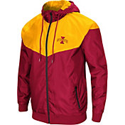 Colosseum Men's Iowa State Cyclones Cardinal/Gold Galivanting Full Zip Jacket