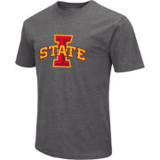 Colosseum Men's Iowa State Cyclones Grey Dual Blend T-Shirt