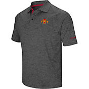 Colosseum Men's Iowa State Cyclones Grey Cut Shot Polo