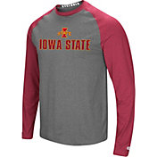 Colosseum Men's Iowa State Cyclones Grey/Cardinal Social Skills Long Sleeve Raglan T-Shirt