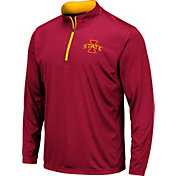 Colosseum Men's Iowa State Cyclones Cardinal Embossed Quarter-Zip Performance Shirt