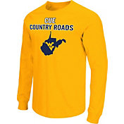 Colosseum Men's West Virginia Mountaineers Gold 'Cue Country Roads' Long-Sleeve T-Shirt