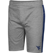 Colosseum Men's West Virginia Mountaineers Grey Take A Knee Fleece Shorts