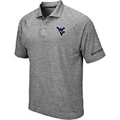 Colosseum Men's West Virginia Mountaineers Grey Chip Shot Polo