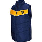 Colosseum Men's West Virginia Mountaineers Blue Red Beauleiu Full-Zip Vest