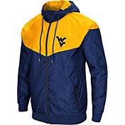 Colosseum Men's West Virginia Mountaineers Blue/Gold Galivanting Full Zip Jacket