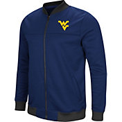 Colosseum Men's West Virginia Mountaineers Blue Sack The QB Full-Zip Bomber Jacket