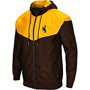 Colosseum Men's Wyoming Cowboys Brown/Gold Galivanting Full Zip Jacket
