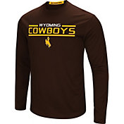 Colosseum Men's Wyoming Cowboys Brown Long Sleeve Performance T-Shirt