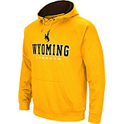 Colosseum Men's Wyoming Cowboys Gold Fleece Pullover Hoodie
