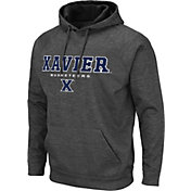 Colosseum Men's Xavier Musketeers Grey Pullover Hoodie