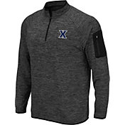 Colosseum Men's Xavier Musketeers Grey Quarter-Zip Shirt