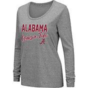Colosseum Women's Alabama Crimson Tide Grey Tri-Blend Long Sleeve T-Shirt