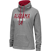 Colosseum Women's Alabama Crimson Tide Grey Funnel-Neck Pullover Sweatshirt