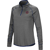 Colosseum Women's Auburn Tigers Grey Shark Quarter-Zip Shirt