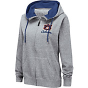 Colosseum Women's Auburn Tigers Grey Full-Zip Hoodie