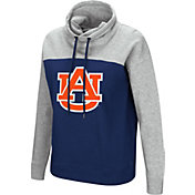 Colosseum Women's Auburn Tigers Blue/Grey The Talk Funnel-Neck Pullover