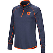 Colosseum Women's Auburn Tigers Blue Shark Quarter-Zip Shirt