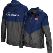Colosseum Women's Auburn Tigers Blue/Grey First Class Windbreaker Jacket