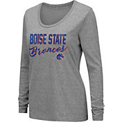 Colosseum Women's Boise State Broncos Grey Tri-Blend Long Sleeve T-Shirt