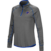 Colosseum Women's Boise State Broncos Grey Shark Quarter-Zip Shirt