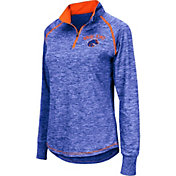Colosseum Women's Boise State Broncos Blue Bikram Quarter-Zip Top