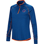 Colosseum Women's Boise State Broncos Blue Shark Quarter-Zip Shirt